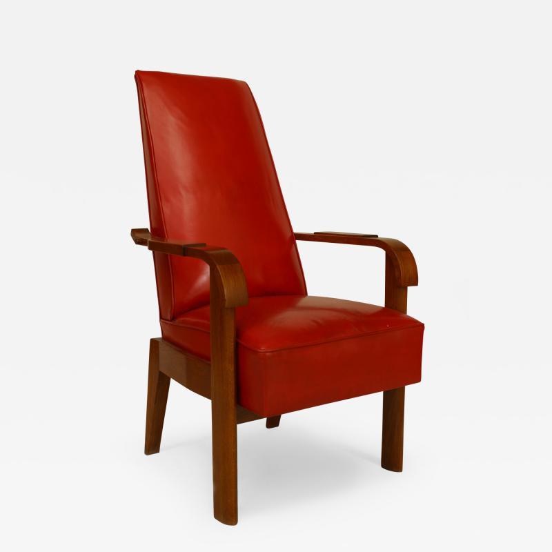 French 1940s Oak Armchair