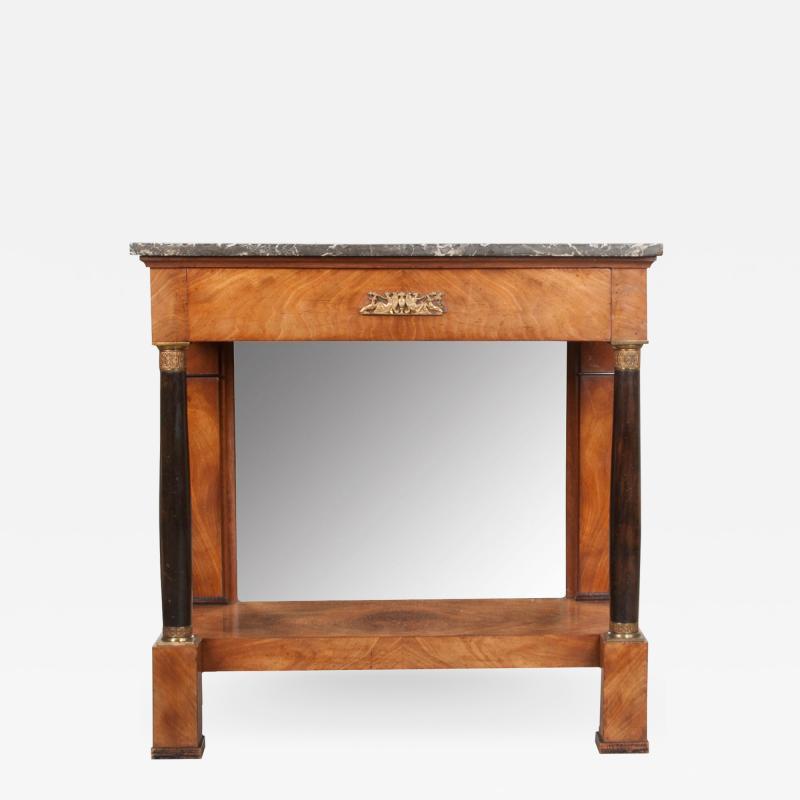 French 19th Century Empire Mahogany Console Table