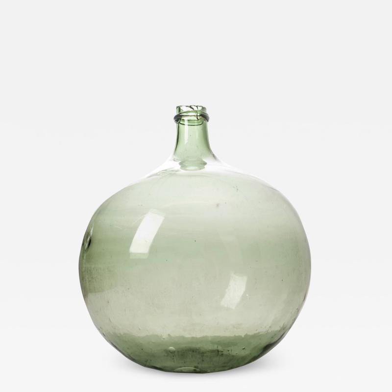 French 19th Century Green Blown Glass Wine Keg