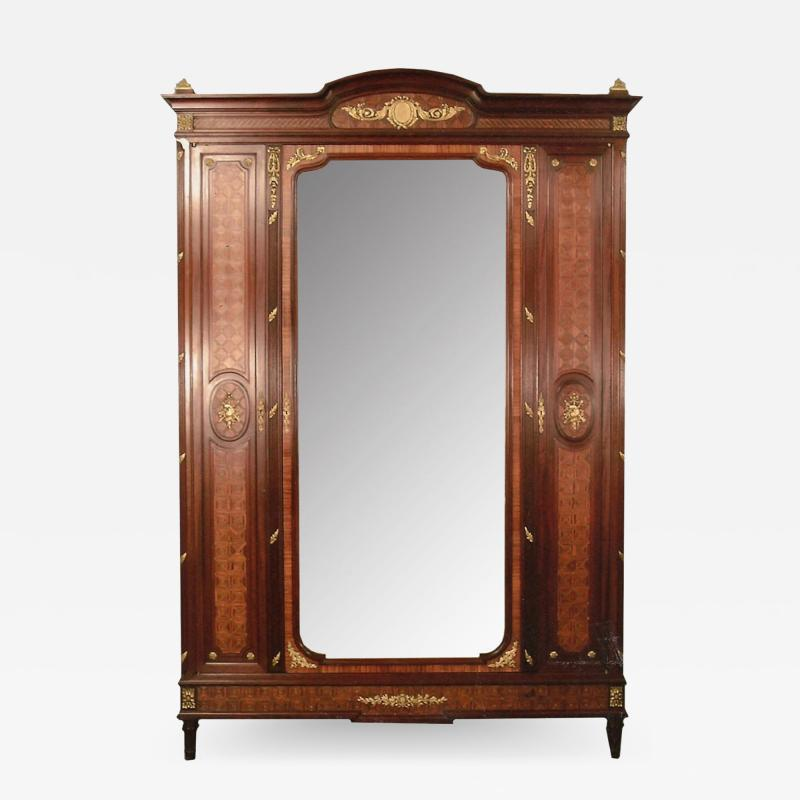 French 19th Century Louis XVI Kingswood Armoire