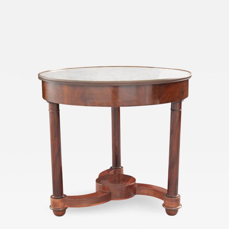 French 19th Century Mahogany Empire Center Table
