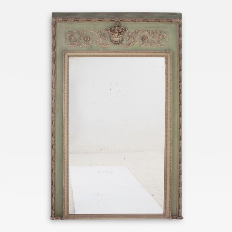 French 19th Century Painted Trumeau Mirror
