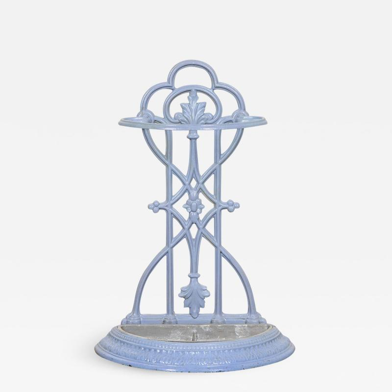 French 19th Century Painted Wrought Iron Umbrella Stand