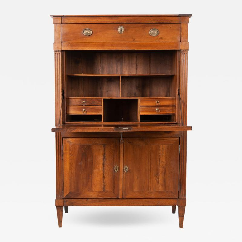 French 19th Century Transitional Secr taire Abattant