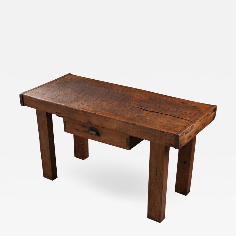 French 19th Century Walnut Workbench Coffee Table