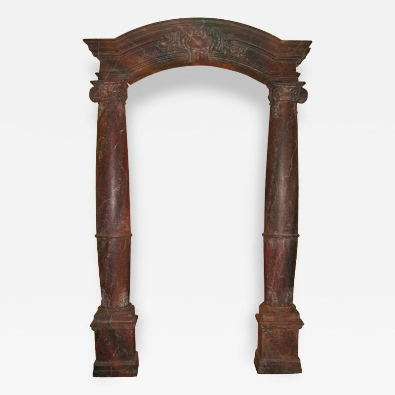 French Architectural Faux Marble Archway