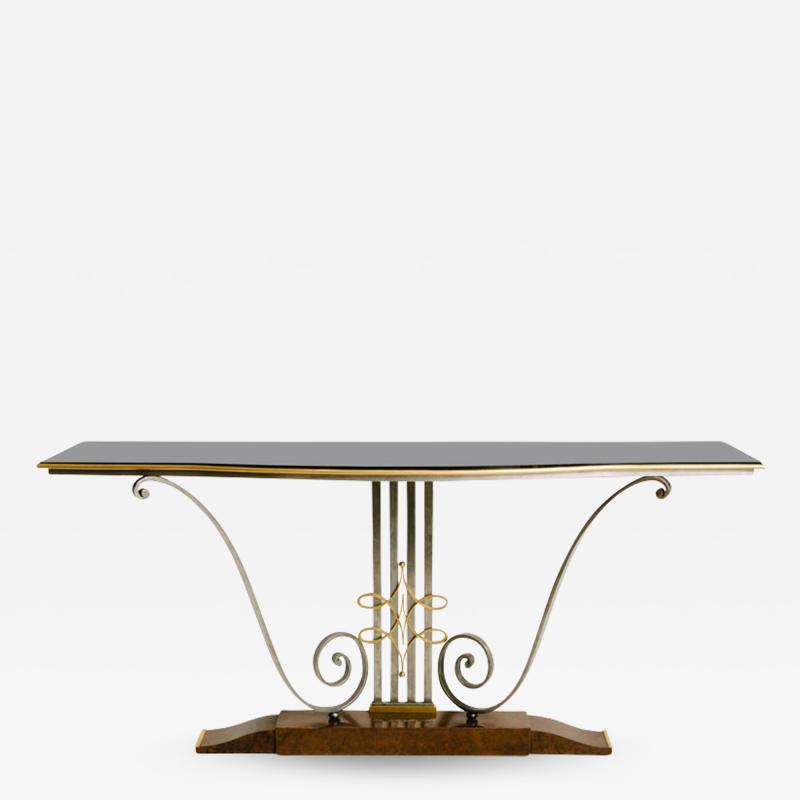 French Art Deco Console Table by Raymond Subes