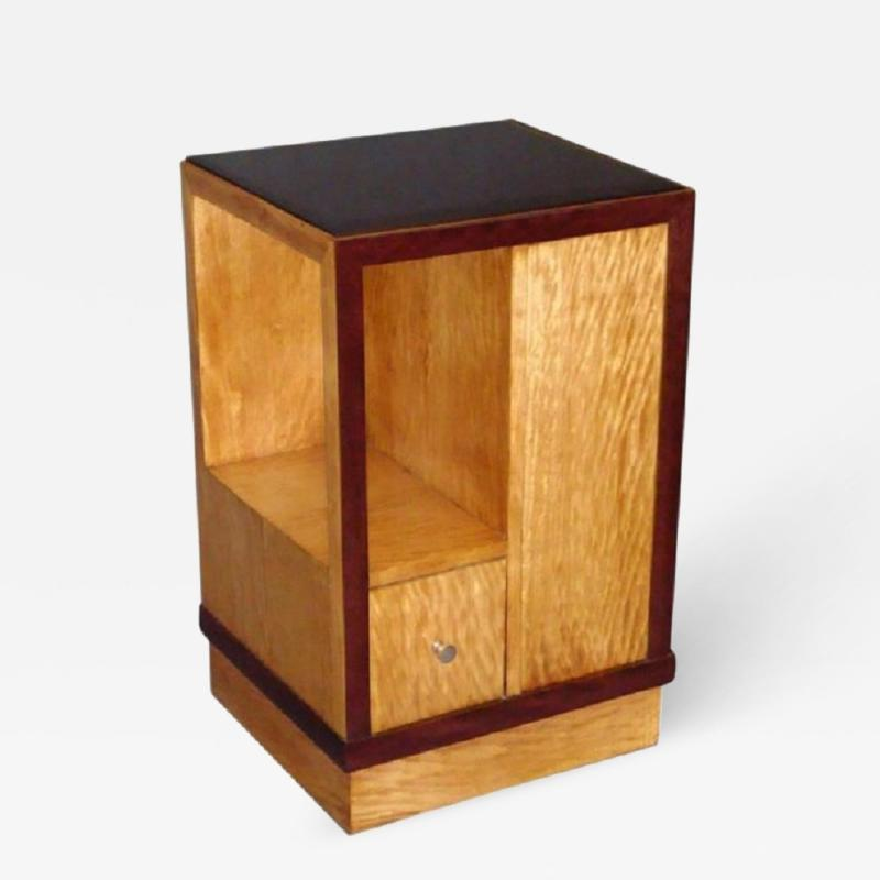 French Art Deco Sided Table or Nightstand