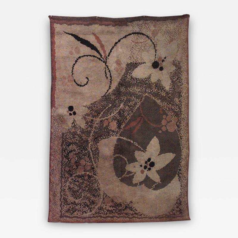 French Art Deco Wool Rug Carpet