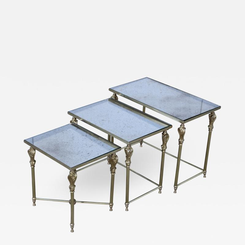 French Bronze And Brass Nesting Tables