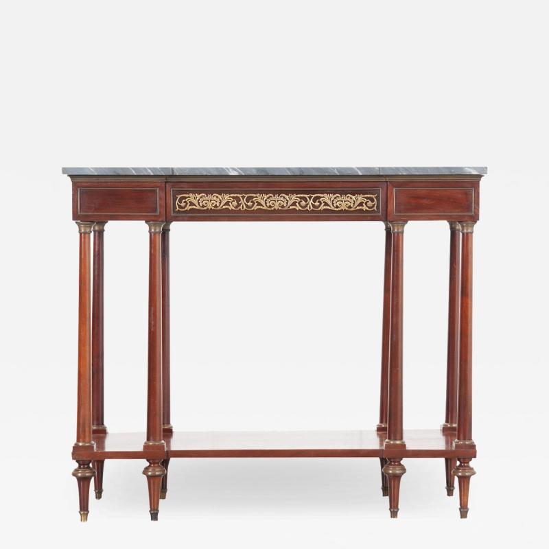 French Early 20th Century Mahogany Empire Style Console