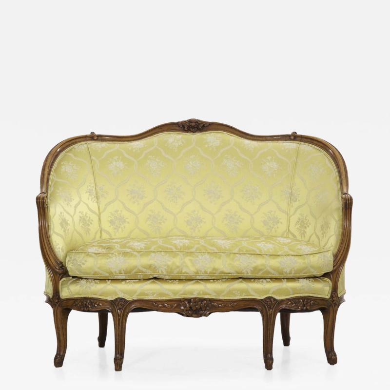 French Louis XV Style Canap Sofa 19th Century