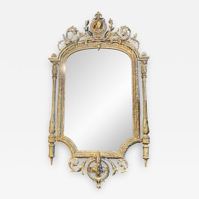 French Neoclassical Gilt wood Mirror 19th Century