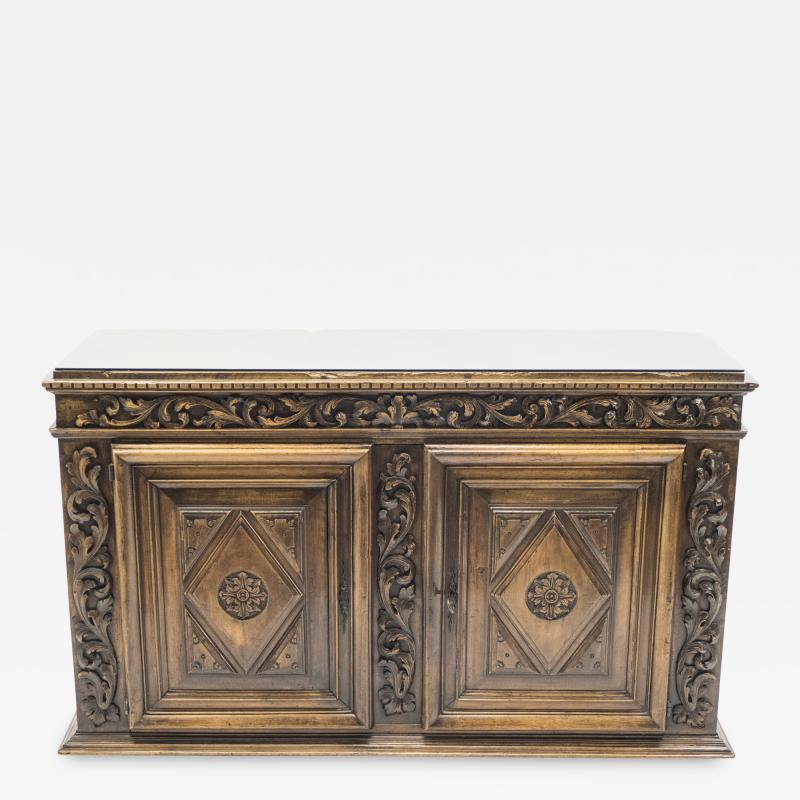 French Renaissance carved oak sideboard 18th century