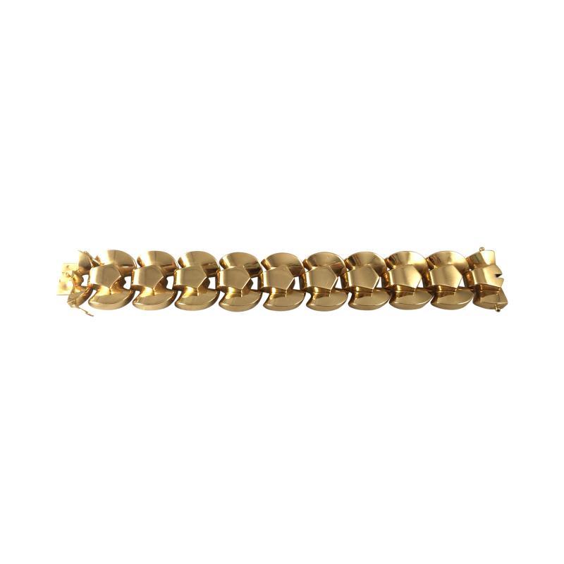 French Retro 18K Gold Bracelet