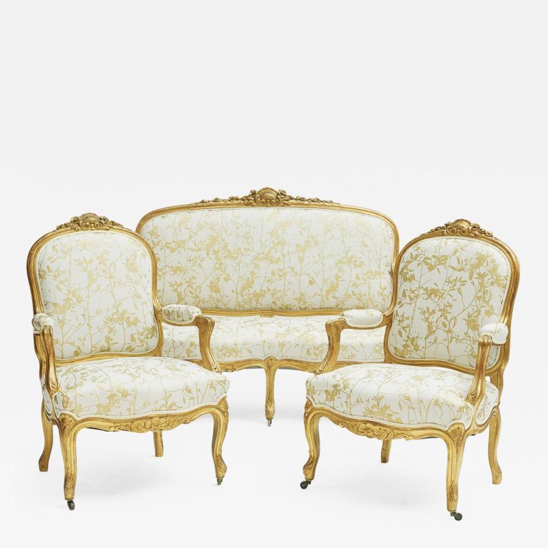 French Rococo furniture set ca 1860