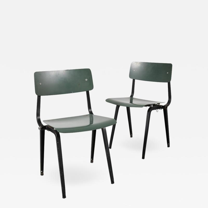 Friso Kramer Rare Friso Kramer Folding Revolt Chairs for Ahrend de Cirkel Netherlands 1953