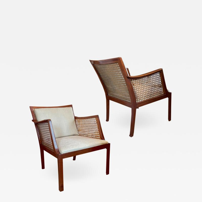 Frits Henningsen Superb Pair of Egyptian Inspired Armchairs by Frits Henningsen