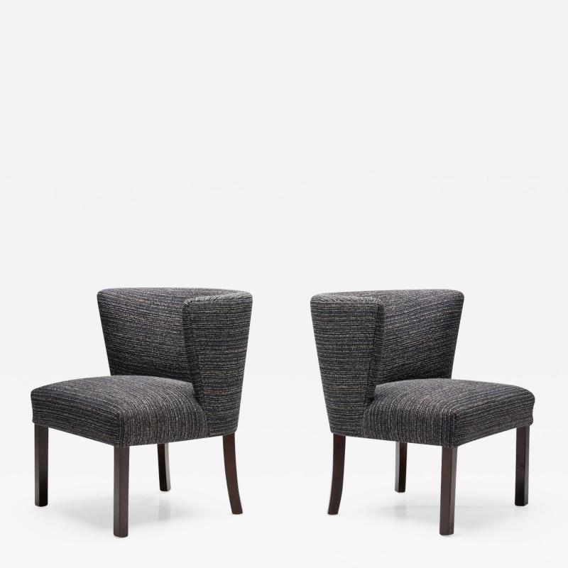 Fritz Hansen Pair of Model 1514 Chairs by Fritz Hansen Designed Denmark 1940