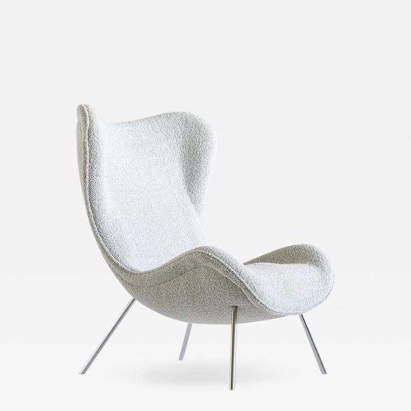 Fritz Neth Fritz Neth Madame Lounge Chair in Pearl Dedar Boucl Correcta Germany 1950s
