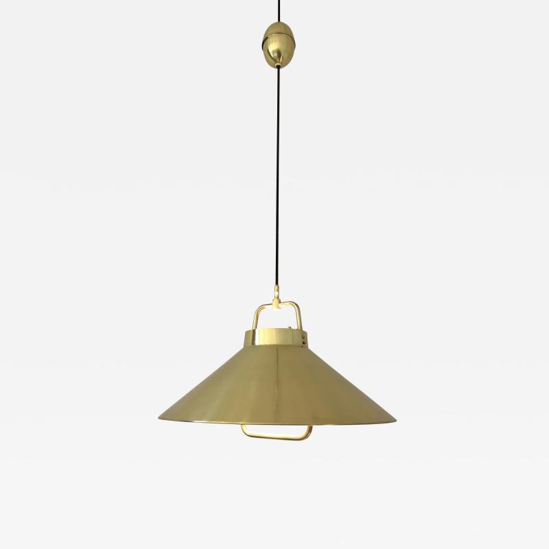 Fritz Schlegel Vintage 1960s Danish Brass Pendant Light by Fritz Schlegel for Lyfa
