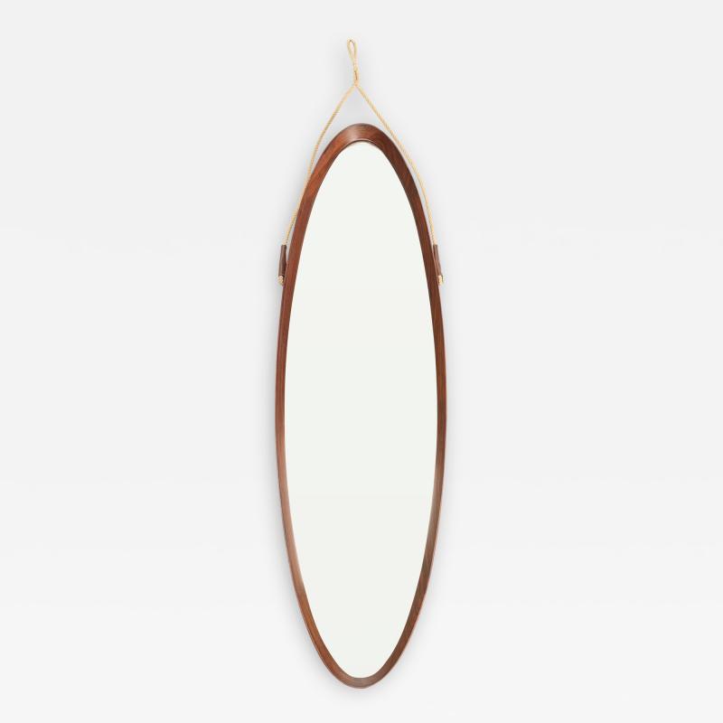 Full body mirror from Italy mahogany 50s