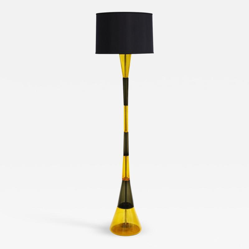 Fulvio Bianconi Venini Rare Hand Blown Glass Floor Lamp ca 1960