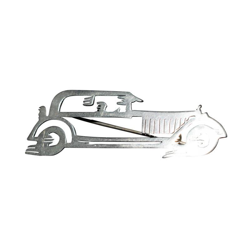 Futurist Car Brooch Streamlined Automobile Pin