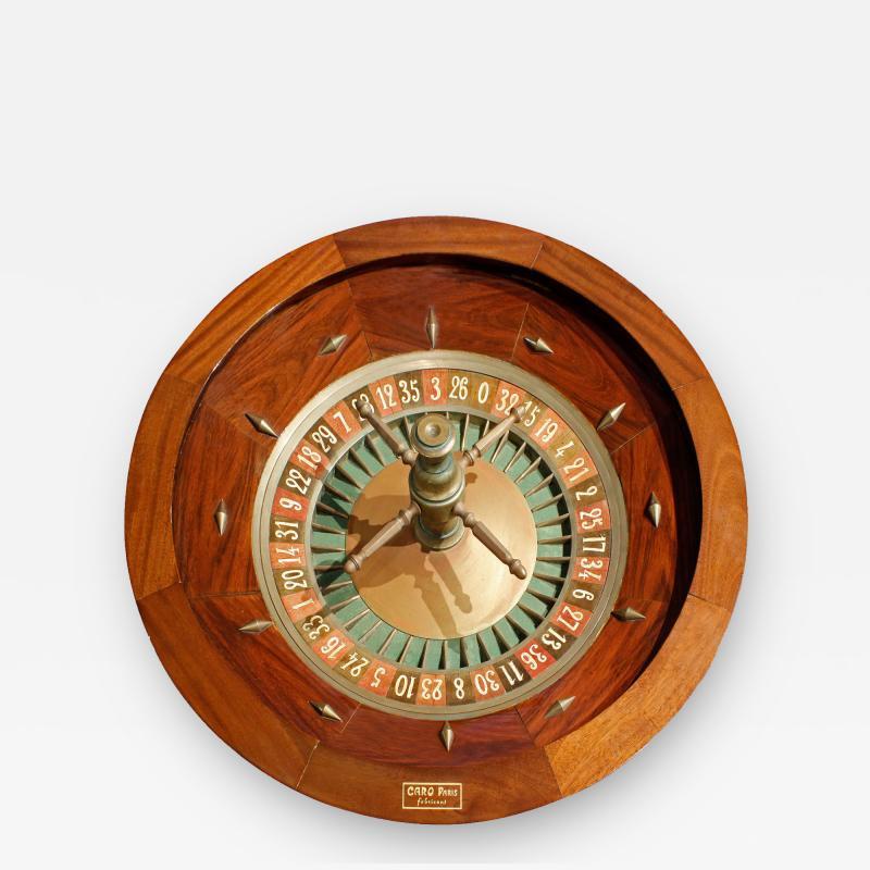 G Caro Paris Caro Paris Casino Roulette Wheel 1960s