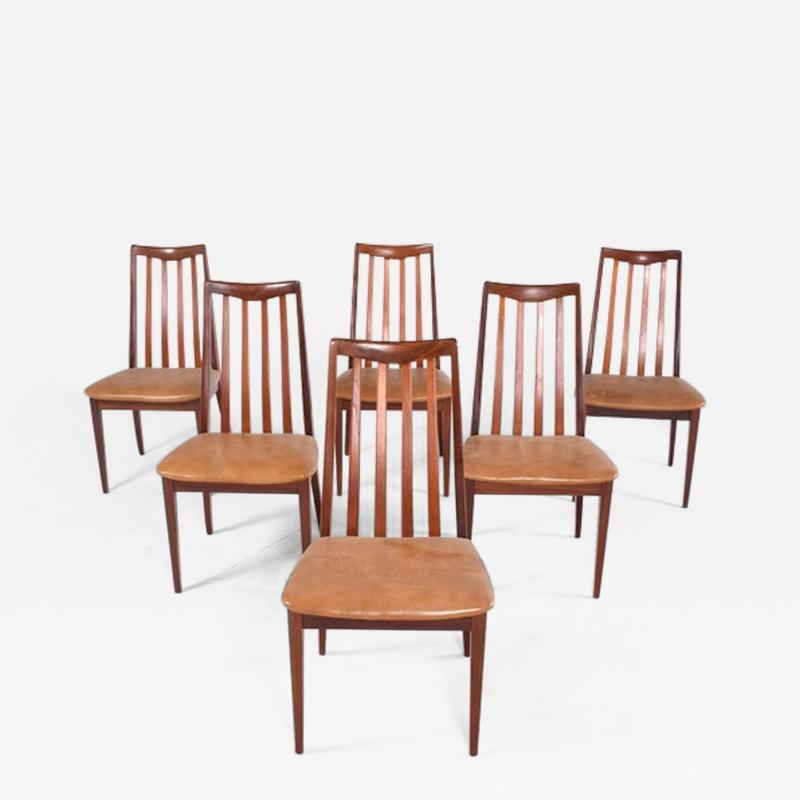 G Plan Midcentury Set of 6 G Plan Dining Chairs by Leslie Dandy