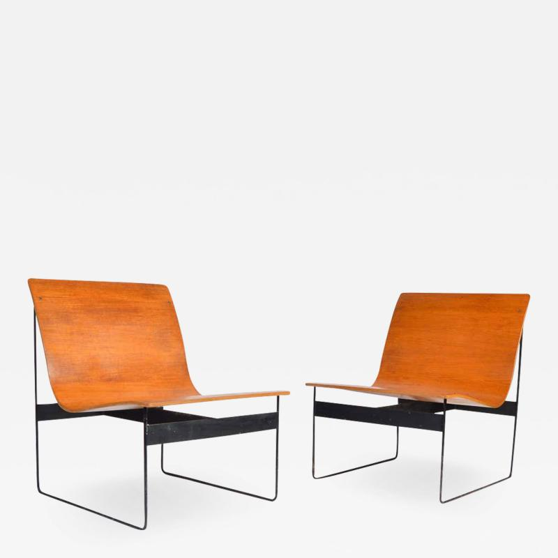 G nter Renkel G nter Renkel for Rego Bentwood Lounge Chairs Germany 1959
