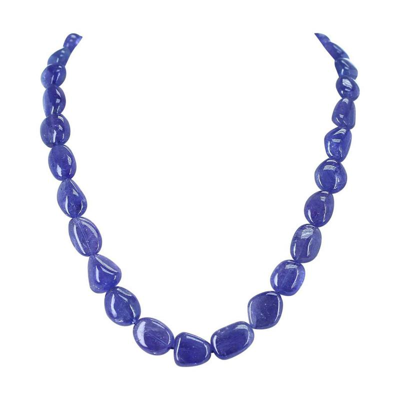 GENUINE NATURAL FINE TANZANITE TUMBLED BEADS