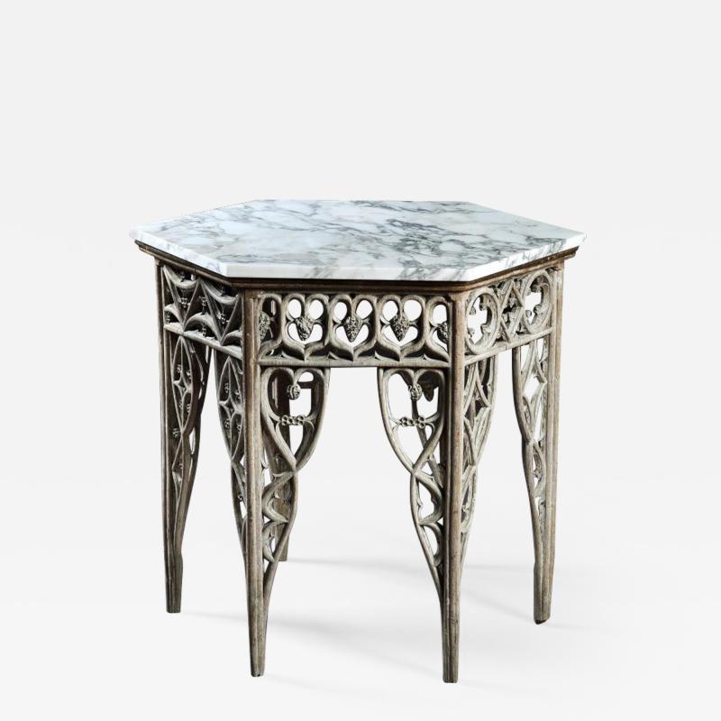 GOTHIC HEXAGON CENTER TABLE ENGLISH CIRCA 1780