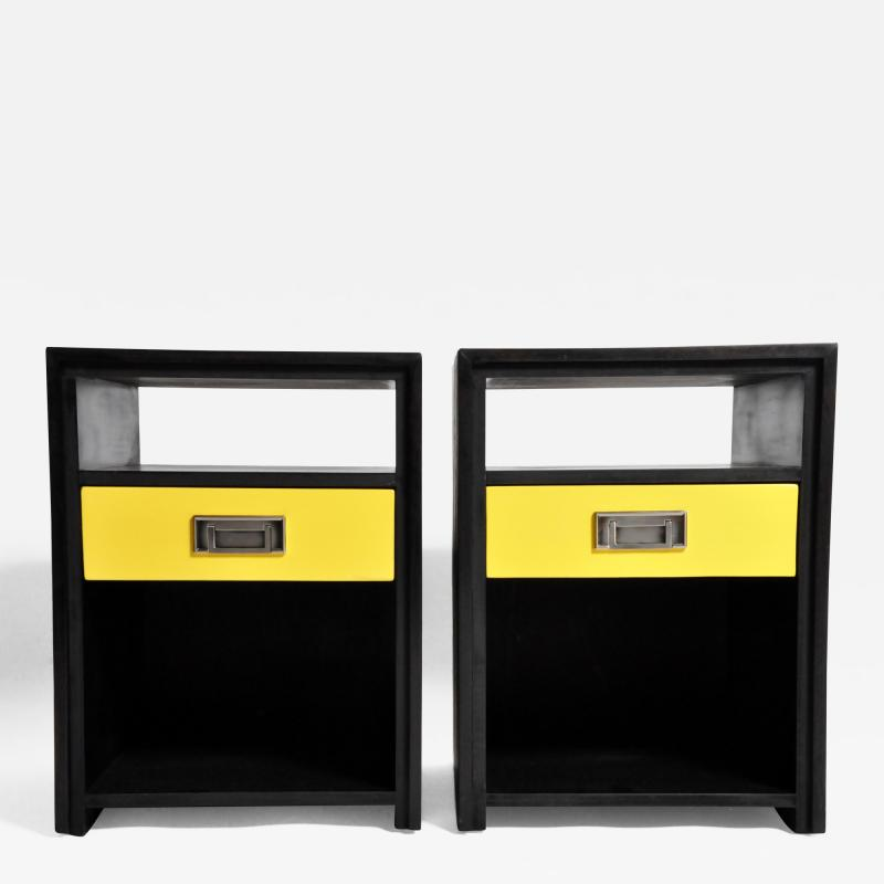 GTC2 Pair of Campaign Bedside Chests by The Golden Triangle Chicago