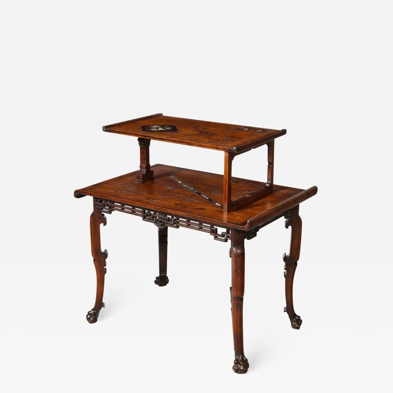 Gabriel Viardot Mother of Pearl Inlaid Table