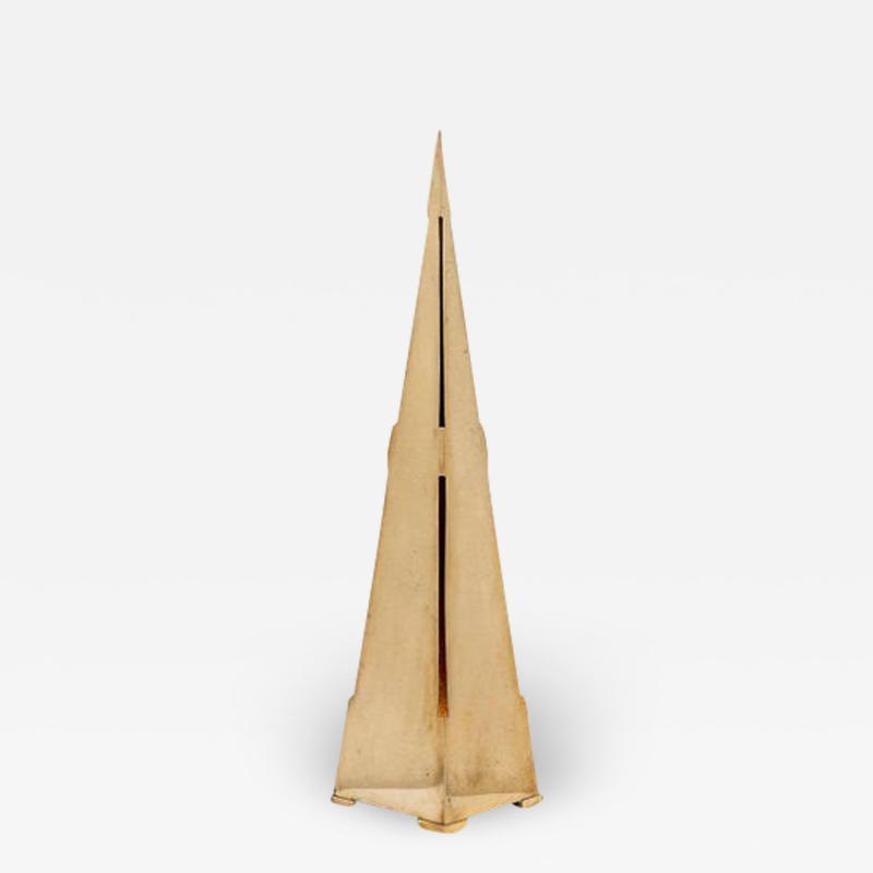 Gabriella Crespi Obelisco Table Lamp by Gabriella Crespi Signed
