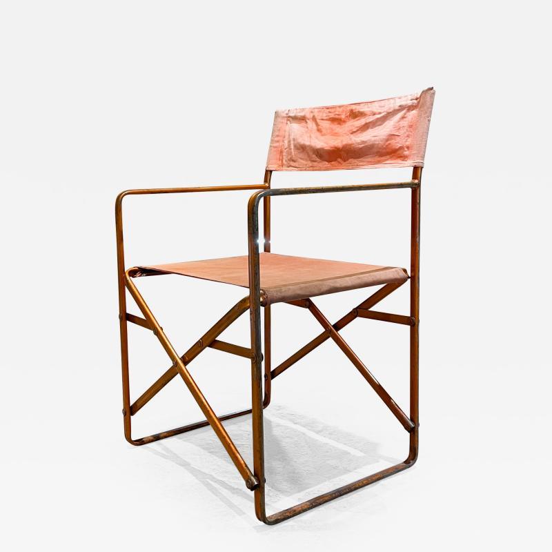 Gae Aulenti Folding Directors Chair Vintage in the Style of Gae Aulenti 1964 Zanotta April