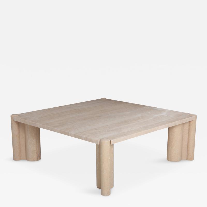 Gae Aulenti Gae Aulenti Jumbo Travertine Square Coffee Table 1965