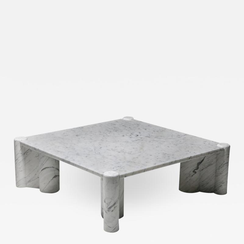 Gae Aulenti Gae Aulenti Jumbo coffee table in carrara white marble 1960s