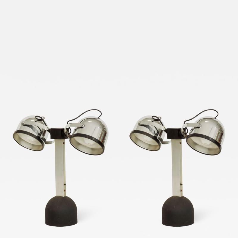 Gae Aulenti Pair of Gae Aulenti Livio Castiglioni Trepi Table Lamps for Stilnovo 1972