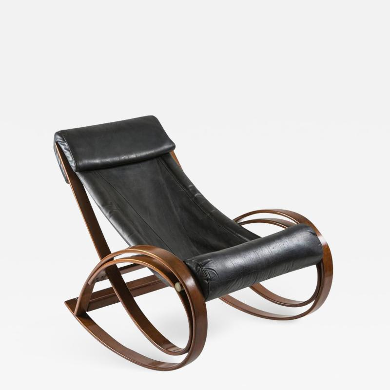 Gae Aulenti Sgarsul Rocking Chair by Gae Aulenti for Poltronova