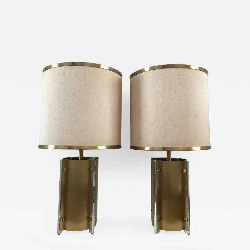 Gaetano Sciolari 1970s Pair of Table Lamps by Sciolari Roma