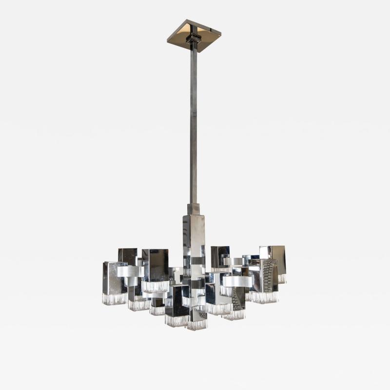 Gaetano Sciolari Cubist Pendant Light By Gaetano Sciolari Circa 1975