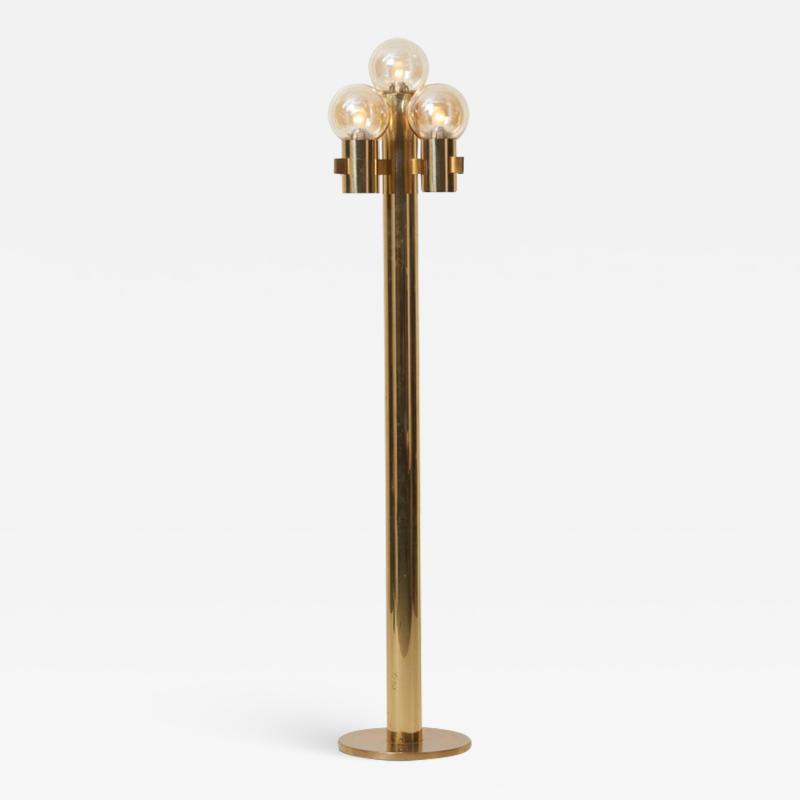 Gaetano Sciolari Midcentury Floor Lamp in Brass by Sciolari