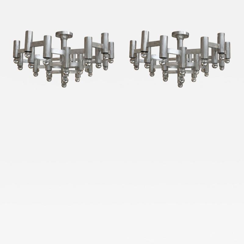 Gaetano Sciolari Pair of Pendant Lamps Designed by Gaetano Sciolari