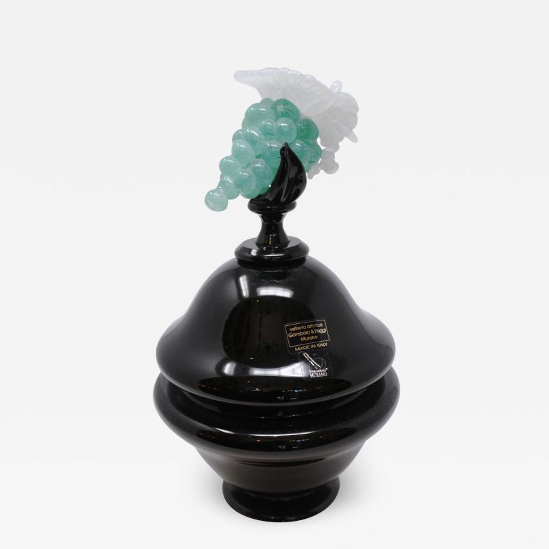Gambaro Poggi Murano Grape Urn with Lid