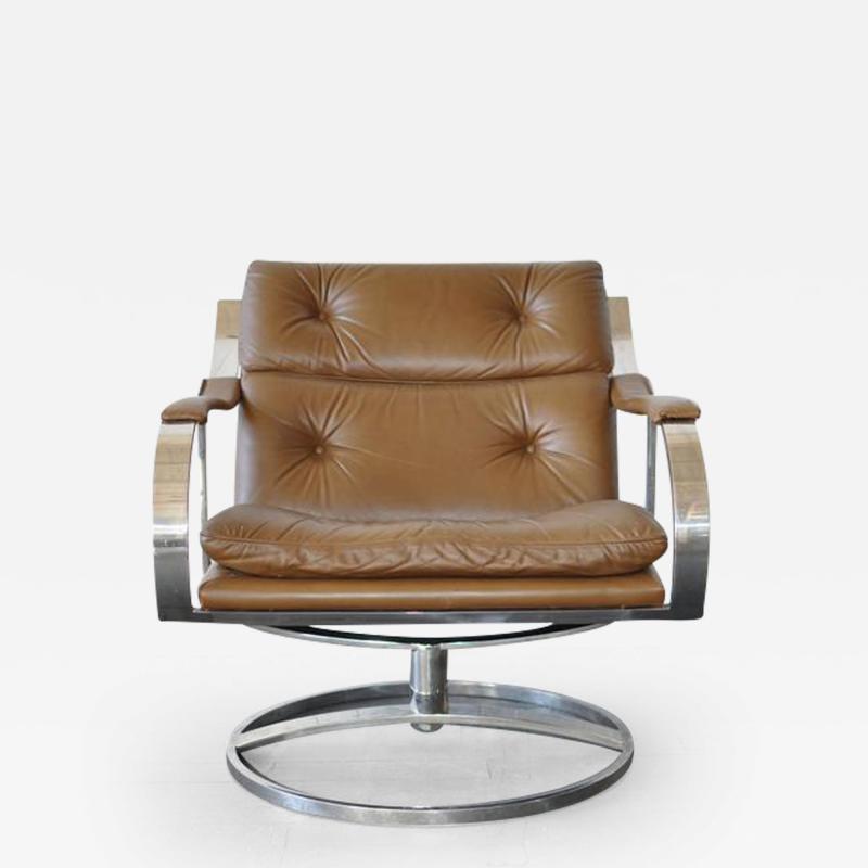 Gardner Leaver Gardner Leaver for Steelcase Leather Lounge Chair