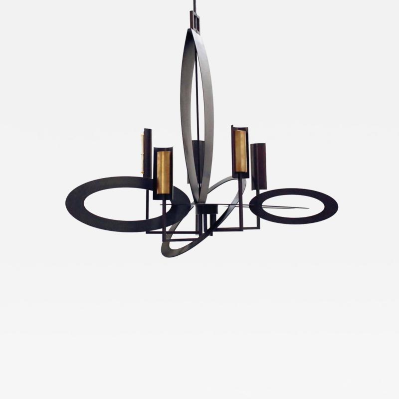 Gareth Devonald Smith ELLIPSE Bronze Chandelier