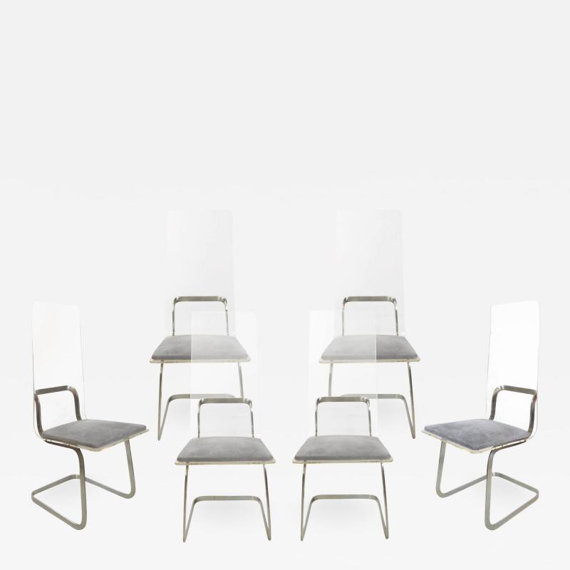 Gary Gutterman Set of 6 chairs in plexiglass by Gary Gutterman circa 1970