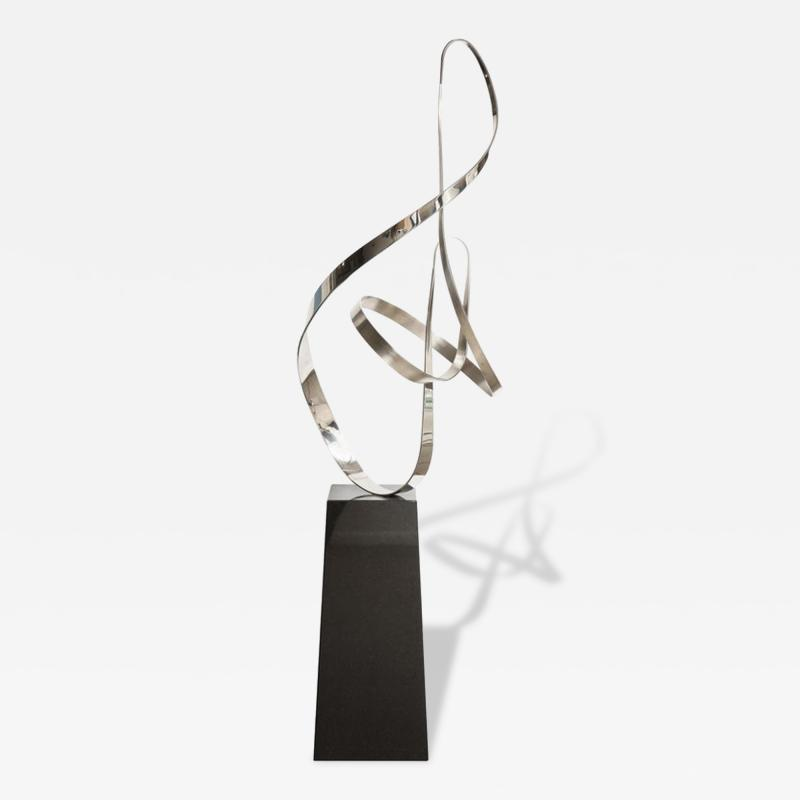 Gary Traczyk Signed Stainless Steel Kinetic Sculpture Infinity